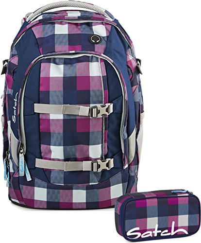 Satch Schulrucksack-Set 2-TLG Pack Berry Carry Lila