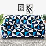 Fundas de sofá elásticas a cuadros para sala de estar, protector de muebles antideslizante, calidad duradera, resistente a las arrugas A26 de 3 plazas