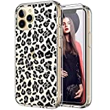 ICEDIO for iPhone 12 Pro Max Case with Screen Protector,Clear with Fashion Leopard Patterns for Girls Women,Shockproof Slim Fit TPU Cover Protective Phone Case for iPhone 12 Pro Max 6.7'