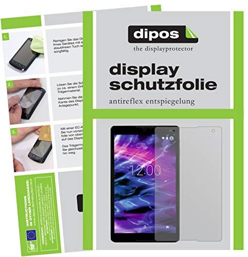 dipos I 2X Schutzfolie matt kompatibel mit Medion LifeTab P10505 Folie Bildschirmschutzfolie