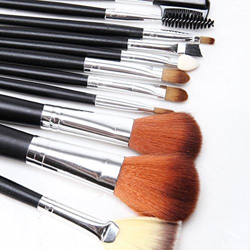 XUAN 12 PCs maquillage pinceau brosse set cosmétique fibres mélangées ensemble brosses à cheveux maquillage pinceau
