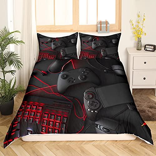 Homewish Funda de edredón para juegos de cama de estilo científico con cremallera, 135 x 200 cm