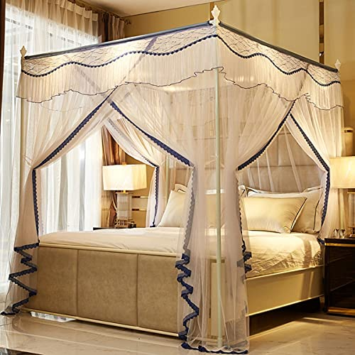LFLLFLLFL Mosquiteras IKEA Mosquitera para Cama Mosquitera Cama Matrimonio Interior Y Exterior Tela Mosquitera por Metros Mosquitera Cuna (Color : A, Size : 186cm*200cm*200cm)