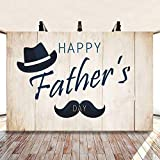 DASHAN 5x3ft Polyester Happy Fathers Days Fathers Day Backdrops for Photography I Love Day Mustache Hat Fathers Day Background Dad Father's Day Party Celebration Decor YouTube Men Photo Studio Prop