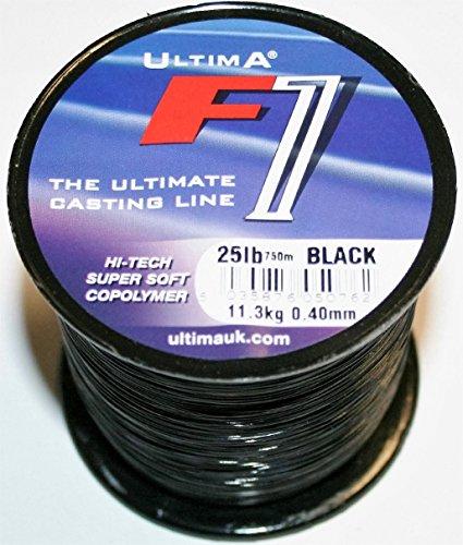 Unbekannt - Nylon-Angelschnüre in Schwarz, Größe 0.40mm - 25.0lb/11.4kg