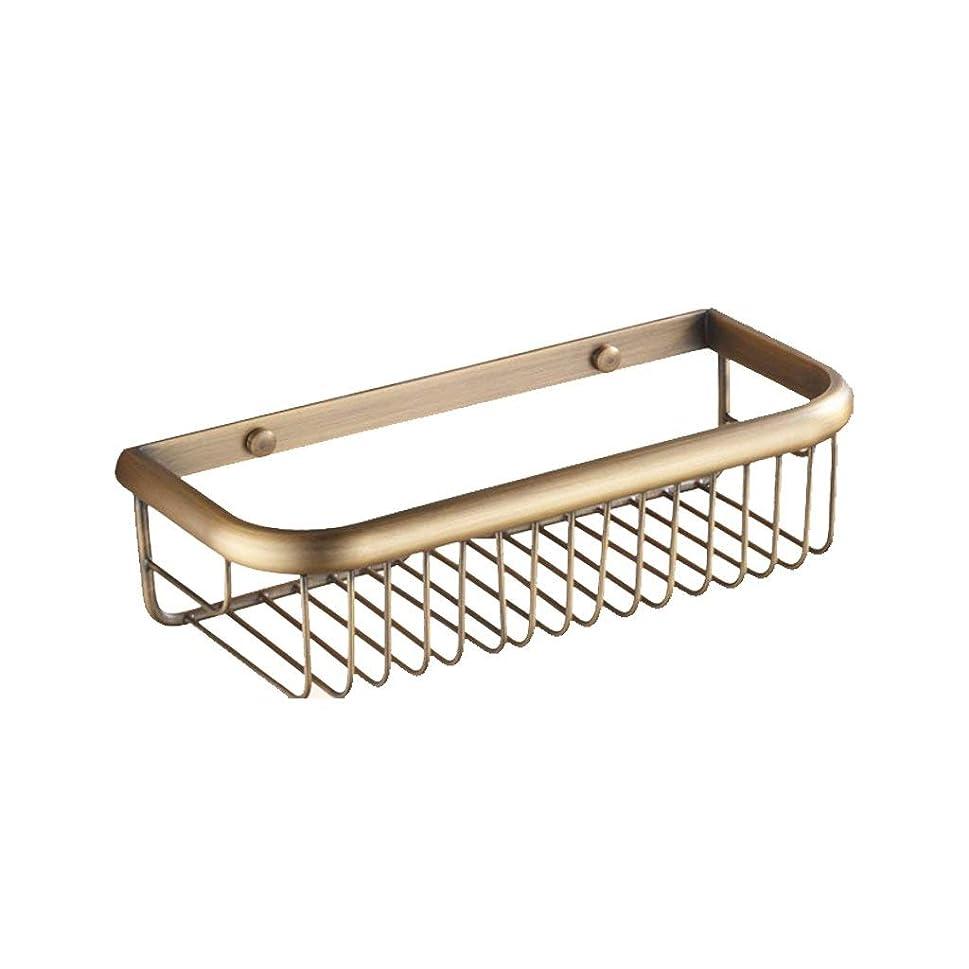 みなすトークモバイル銅の浴室の棚の金の壁掛けの正方形のバスケットの棚(サイズ:45CM)