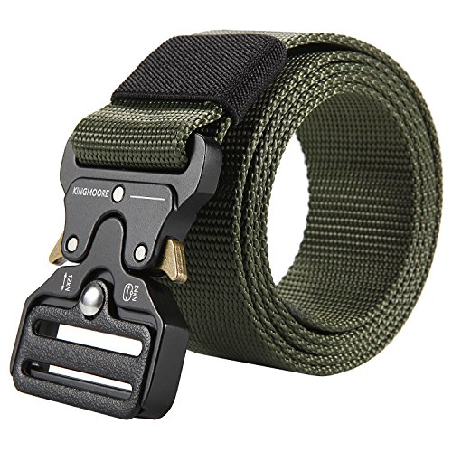 Men's Tactical Belt Heavy Duty Webbing Belt Adjustable Military Style Nylon Belts