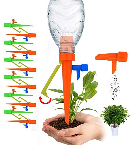 SHOOTING 水やり当番 12枚 自動給水キャップ じょうろ 自動水分量調節 自動水やり器 自動給水器 水遣り機 自動散水システム リサイクル ガーデニング/園芸/植物/盆栽/野菜/留守に適用【2021進化版】