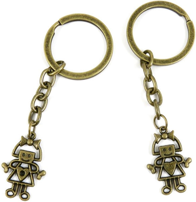 80 PCS Keyring Car Door Key Ring Tag Chain Keychain Wholesale Suppliers Charms Handmade U5NC6 Girl Robot