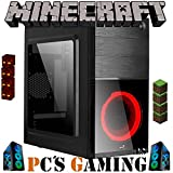 PC'S Gaming - Minecraft PC Gamer AMZ 2022 *Rebajas*(CPU Ryzen 3 4/4N x 4,00 GHz, T. Gráfica 2 GB, HDD 1 TB, Ram 16 GB, W10) + WiFi de Regalo. pc Gaming, PC SOBREMESA (actualizado 2022)