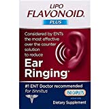 Lipo-Flavonoid Plus Ear Health Supplement #1 ENT Doctor Recommended for Ear Ringing Most Effective Over The Counter Tinnitus Treatment, Lemon, 150 Count