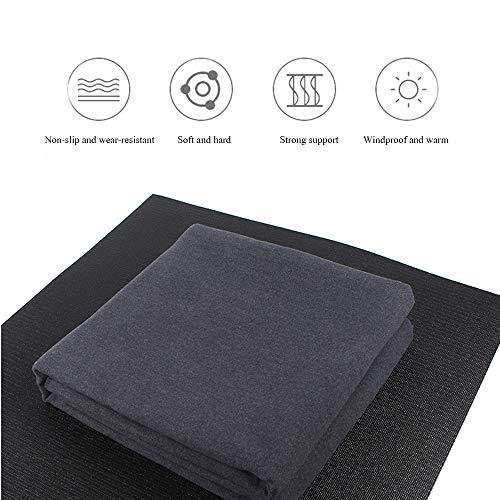 FANXQ dikke yoga-deken, winddichte en warme hulphouder, antislip, slijtvaste yoga-deken, goed gevoel, gemakkelijk op te vouwen 220 * 150 cm