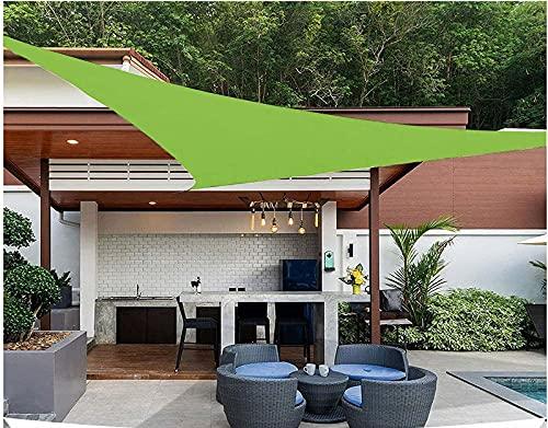 QDY -Vela De Sombra para El Sol Al Aire Libre, 98% Vela De Jardín De Bloque UV, Paño De Sombrilla De Material Triangular 160GSM con Kit De Fijación Toldo para Patio,7 Green,3x4x5m