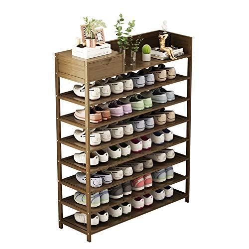 Organizador para Zapatos Dormitorio Dormitorio de 8 niveles Rack de espacio for el hogar Saving Saving Stay Rack Freestanding Storage Shelf Durable y estable, for Entrada, Pasillo, Closet Mueble para