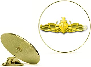 HOF Trading Gold US Navy Surface Warfare Officer Military Veteran Served Gold Lapel Pin Tie Suit Shirt Pinback