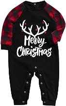 kitt Xmas Family Clothes Merry Christmas Man Daddy Pajamas Print Blouse Tops and Pants Nightwear