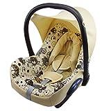 BAMBINIWELT Ersatzbezug für Maxi-Cosi CabrioFix 6-tlg, Bezug für Babyschale, Komplett-Set EULE $5 XX