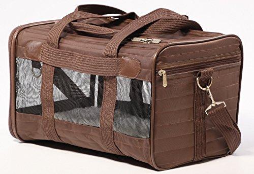Sherpa Original Deluxe Pet Carriers With Bonus Travel Port-A-Bowl (Brown, Medium)