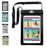 SwimCell wasserdichte Hülle für alle Smartphones.iPhone 6, 7, 8 Samsung, Kamera, Geld,Schlüsseltasche. Getestet bis 10m zum Schwimmen unter Wasser. Zertifiziertes IPX8. 10cm x 14.5cm, bis zu einem 6 Zoll Bildschirm (Klein Tablette 15.3cm x 21.5cm, Schwarz)