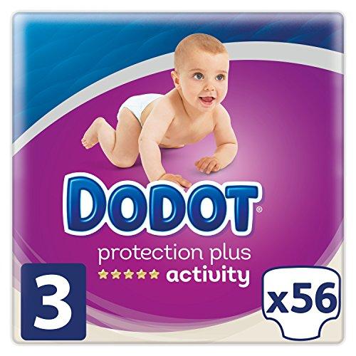 DODOT Protection Plus Activity Pañales Talla 3 (6 a 10 kg) 56 Pañales
