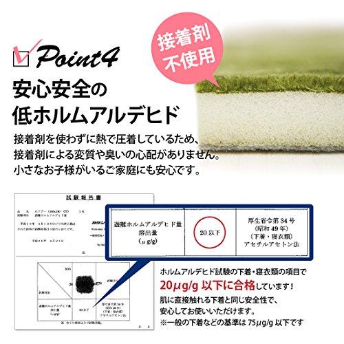 グラムスタイルラグラグマットカーペット洗える洗濯機さらさら190x190cm2畳グレー(スーパームートシャドウ)