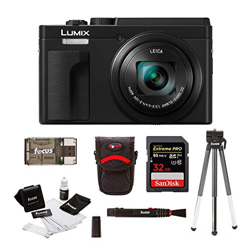 Panasonic LUMIX ZS80 24-720mm Travel Zoom Lens Digital Camera (Black) Bundle