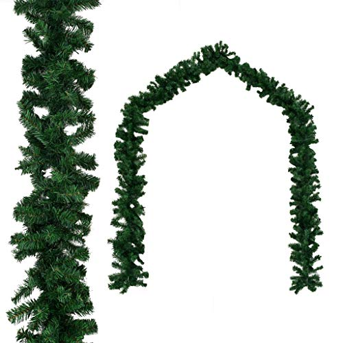 DESITEUS 16.4 ft Garland for Christmas Decorations Portico Green Holiday Decor for Outdoor or Indoor Use Home Garden Artificial Greenery, or Wedding Party Decorations