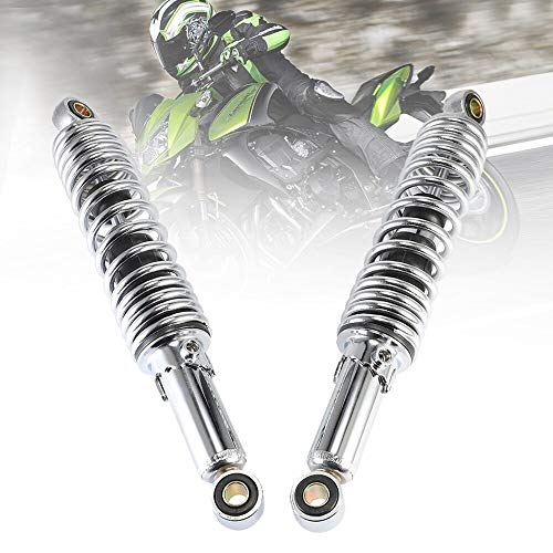 SXGKYY Universal Accesorios de Motocicleta Amortiguador de Aire suspensión Trasera 320mm 12mm para Motores de Bicicleta de Tierra Scooter ATV Quad D45 (Color : Dark Grey)