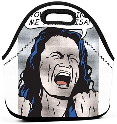 keben Fiambrera Me estás destrozando Lisa Hombres Mujeres Niños Bolsa de Almuerzo aislada Tote Fiambrera Reutilizable para el Trabajo Picnic Escuela