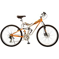 Titan Fusion-Pro Men's Dual Suspension Alloy Mountain Bike (Orange/Silver)