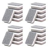 Chutoral, 5 spugnette resistenti per lavapiatti a doppia faccia, per cucina (A-20 pezzi)