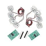 Módulo 24 bits HX711, 4 piezas Juego de sensor de ponderación de galgas de medio puente personal de 50 kg, medición: 50 kg 100 kg 200 kg, Dos entradas de canal analógico