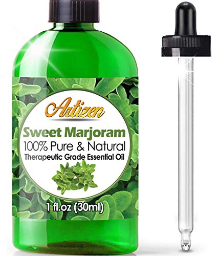 Artizen Sweet Marjoram Essential Oil (100% Pure &Amp; Natural - Undiluted) Therapeutic Grade - Huge 1Oz Bottle - Perfect For Aromatherapy, Relaxation, Skin Therapy &Amp; More!