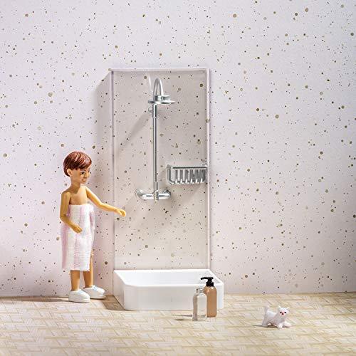 Melody Jane Shower LUNDBY Doll's House-Set Doccia, Colore Bianco, L3062