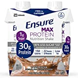 Ensure Max Protein Nutrition Shake, Cafe Mocha, 4 Little Cartons (Pack of 2)