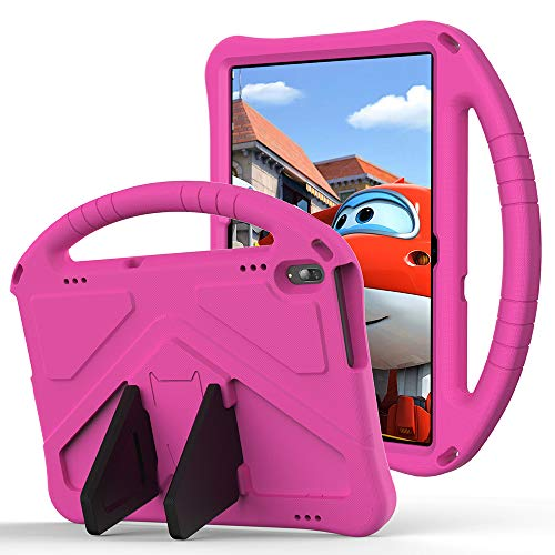 Tading Kids Case for Lenovo Tab M10/P10, Children Friendly EVA Foam Protective Stand Handle Cover Case for Lenovo Tab M10(TB-X605L/X605F) /M10 HD(TB-X505L/X505F) /P10(TB-X705F/X705L) - Hot Pink