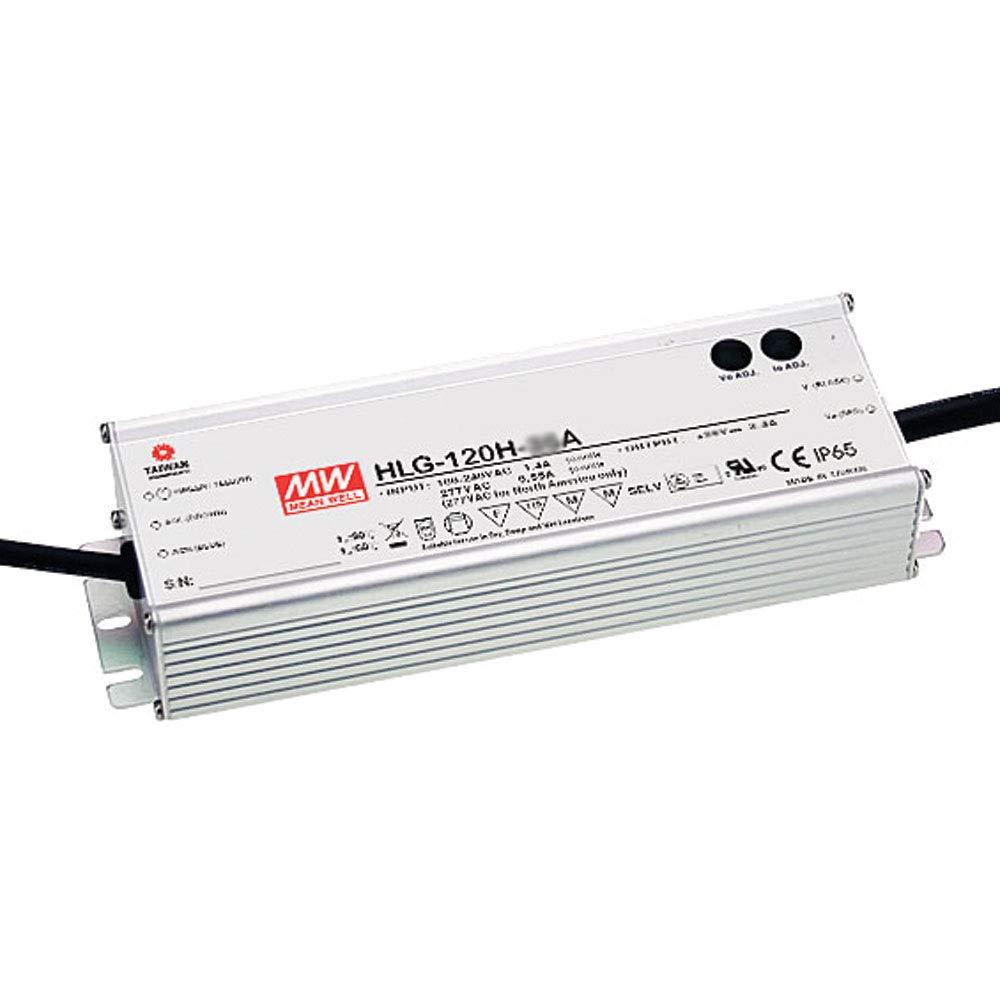 MEAN WELL LED Driver Single Output Switching Power Supply, 120 Watt 54V @ 2.3A A Model, 120 Watt - HLG-120H-54A
