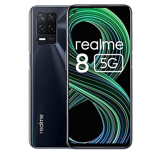 """realme 8 5G Smartphone Débloqué 6GB+128GB, Écran 6,5""""FHD+ Display, Telephone Portable 5G, Caméra Quadruple 48MP, Charge Rapide de 18 W, 5000mAh, Android 11, Dimensity 700 5G Processeur"""