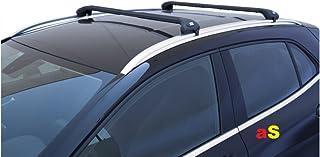 Barras portaequipajes Viva 2, para coche, integradas, color negro