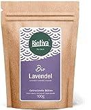 Lavendelblüten - blau, ganz (Bio, 100g) - Lavendel-Tee - Ernte aus Frankreich - Lebensmittelqualität - Abgefüllt in Deutschland