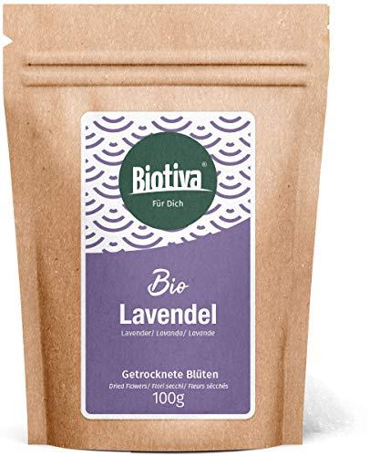 Lavendelblüten - blau, ganz (Bio, 100g) - Lavendel-Tee - Ernte aus Frankreich -...