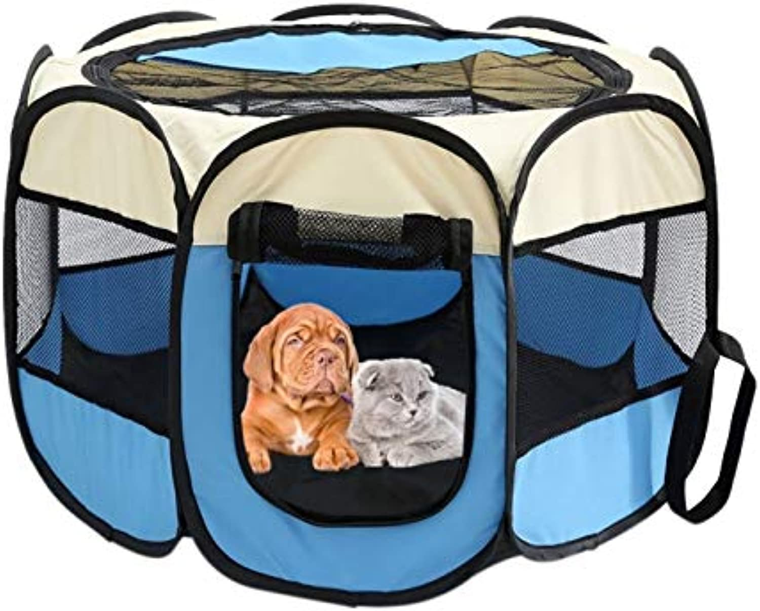 CARBE kennelPortable Folding Pet Carrier Tent Playpen Dog Fence Puppy Kennel Large Space Foldable Exercise Play In House Or Outdoor