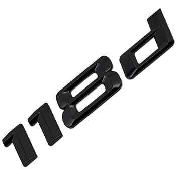 116i logo de d/émarrage arri/ère noir brillant pour E81 E82 E87 E88 F20 F21 F52 HB2R3 MCK Auto