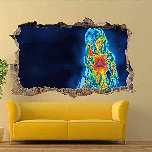 OMCCXO Wandaufkleber 3D Abnehmbares PVC Thermal Imager View 15.7x23.6inch(40x60cm) Wasserdichter Kühlschrank Aufkleber Tür Aufkleber Küche Wanddekoration