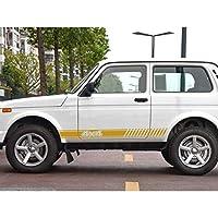 LADA NIVA 4X4の場合、車のロングサイドストライプステッカー自動デカール自動車装飾車の付属品車のステッカー