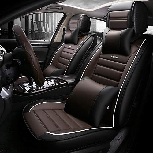 HRFHLHY Leder 5-Sitz Autositzabdeckung Kompatibel mit Renault: Koleos, Kadjar, CAPTUR, Laguna, Scenic, Espace,Chrome,Espace