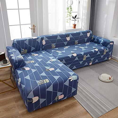 Fsogasilttlv Funda Elástica de Sofá 2 plazas y 3 plazas, Funda de sofá elástica elástica de Color sólido, Fundas de sofá para sofás universales, Sala de Estar Y