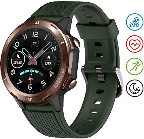 UMIDIGI Smartwatch Uwatch GT Fitness Tracker Armbanduhr Sportuhr Smart Watch für Damen Herren mit Herzfrequenz Schlaftracker 5 ATM Wasserdicht Kompatibel mit Android IOS Xiaomi Samsung Huawei, Grün