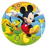 Dekora- Disco Comestible para Tarta de Mickey Mouse 16 cm...