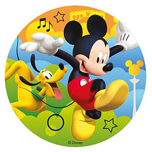 Dekora - Disco Comestible para Tarta de Mickey Mouse 16 cm
